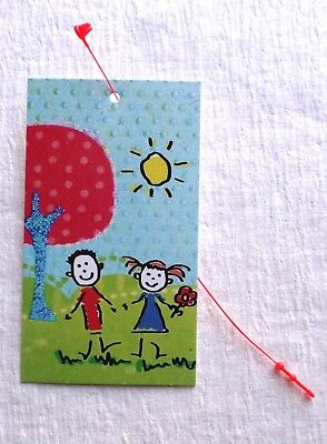 100 Hang Tags Accessories Tags Cute Summer Kids Tags Clothing Tags Plastic Loops