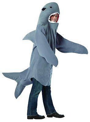 Erwachsene Shark Halloween Marine Tier Kostüm Standardgröße ()