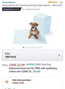 Puppy training pads (for adult dog too)