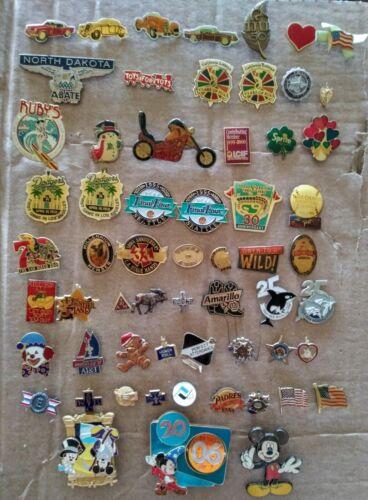 bundle of 60 vintage lapel pins