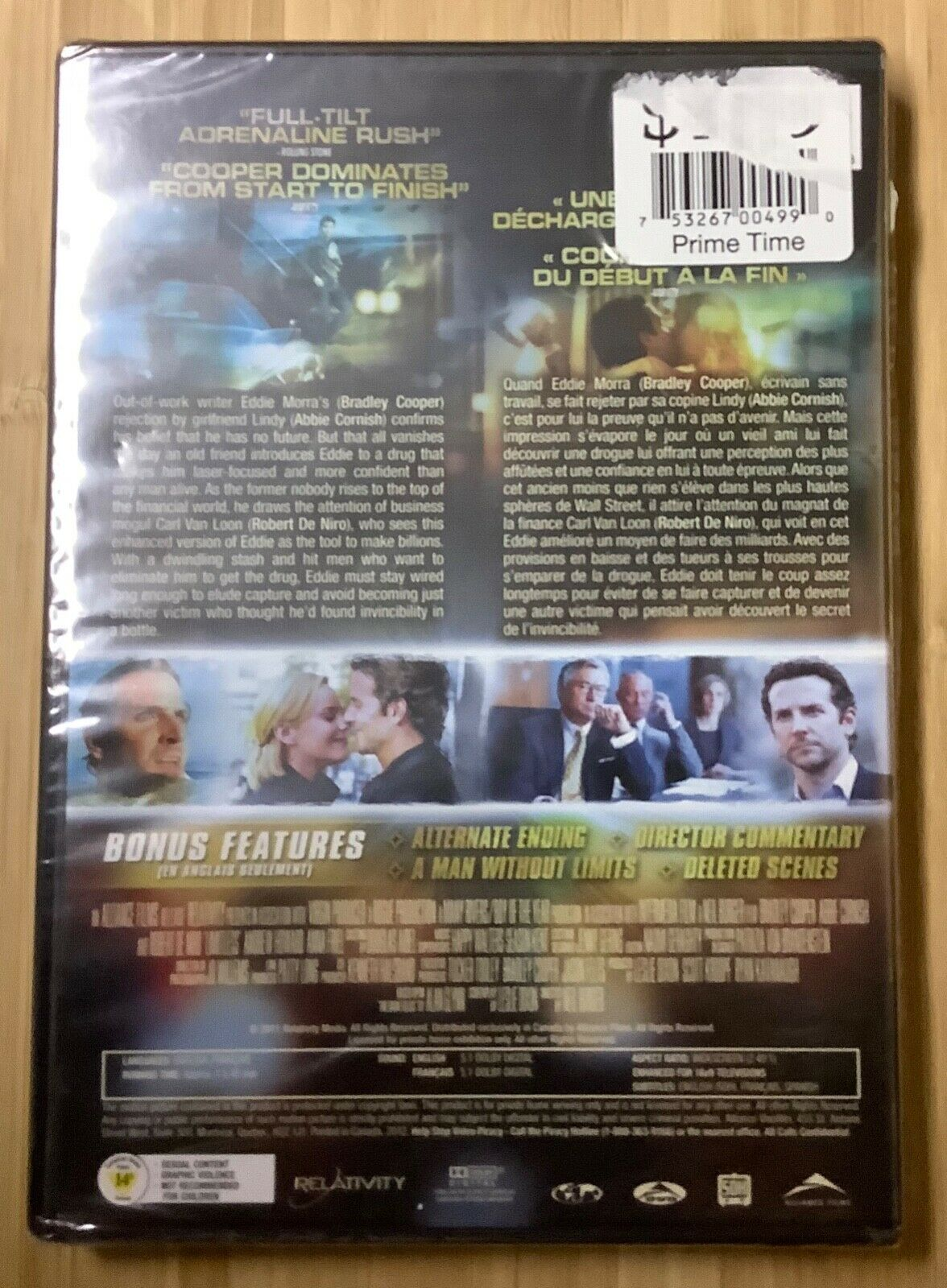 Limitless 2011 DVD Bradley Cooper Robert De Niro Abbie Cornish NEW SEALED - $10.00