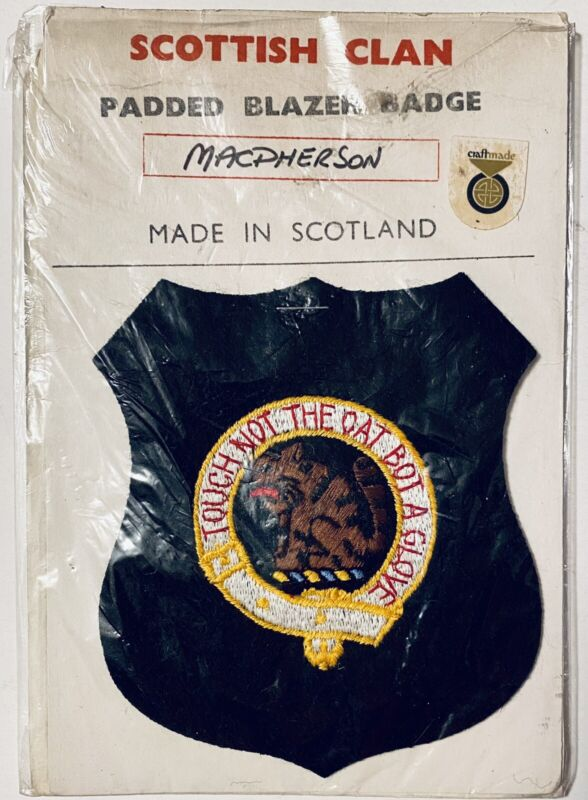 Scottish Clan Badge Touch Not The Oat Bot A Glove MacPherson Family Crest Patch