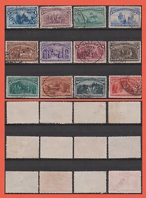 USA - 1893 Columbus Set To $1. Scott #210 - #241 Very Nice Used. 976