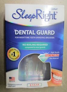 NEW Sleep Right No-Boil Dental Guard Dura Comfort Grinding w/ Storage Case