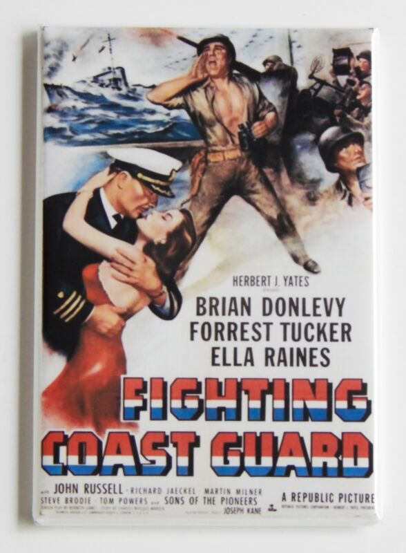 Fighting Coast Guard FRIDGE MAGNET recruiting movie poster vintage-style