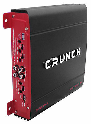 Crunch PX-1000.4 1000 Watt 4 Channel Powerful Car Audio Amplifier Amp PX1000.4