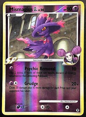 Pokemon Card Mismagius GL LV.26 Rising Rivals 10/111 EX/NM Reverse Holo Rare TCG