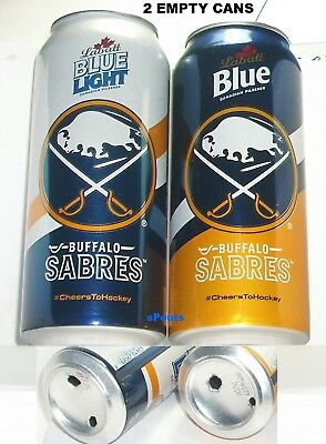 2016 BUFFALO SABRES LABATT BLUE PINT BEER CAN SET NHL ICE HOCKEY CANADA-NY SPORT