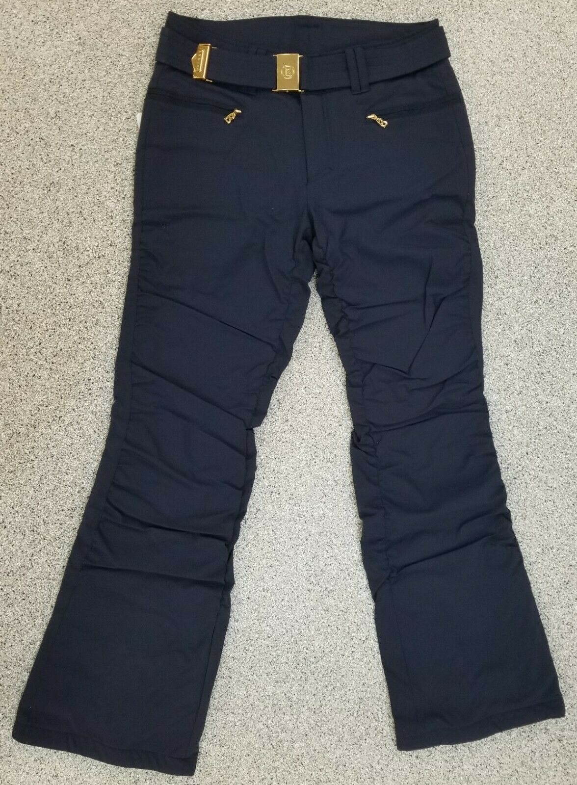 New $790 Bogner Luna Womens Ski Pants Navy Blue Size 12 Ladi