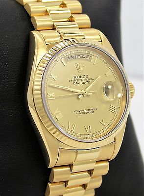 Rolex President Day-Date 18038 18K Yellow Gold Roman Dial *MINT CONDITION*