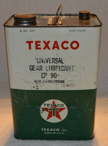 VINTAGE TEXACO UNIVERSAL GEAR LUBRICANT EP90 OIL CAN TIN