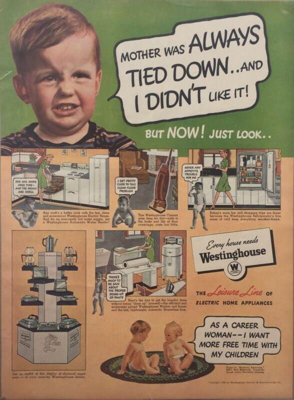1940 Westinghouse Electric Vintage Print Ad
