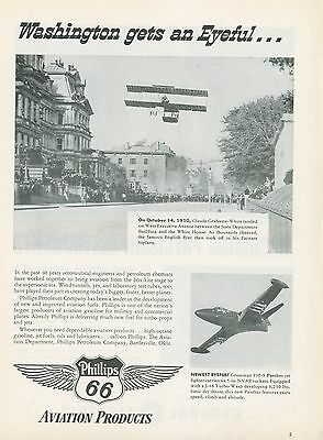 1951 Phillips 66 Aviation Ad Slick Airways Douglas DC-6 DC-6A Freight Cargo