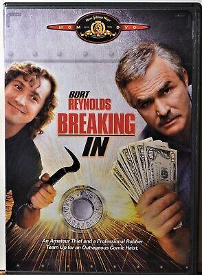 DVD Breaking In Burt Reynolds Heist Safe-Cracking Comedy Action   CLEAN COPY