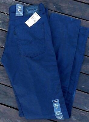 NEW LEVI'S 511 Slim Fit Line 8 Jeans Sz 32x36 Mens Black Indigo 3D Rinse Stretch