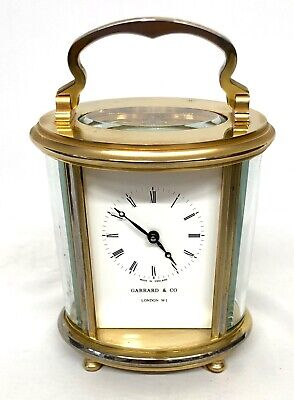 GARRARD & CO LONDON W1 Oval Carriage Clock 11 Jewels : SPARES / REPAIRS