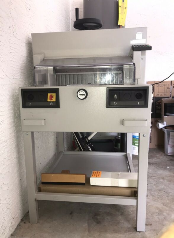 "IDEAL PAPER CUTTER 4810-95 EP 18"" USED MBM BUSINESS MACHINE GUILLOTINE"