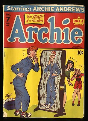 Archie Comics #7 GD 2.0 White Pages