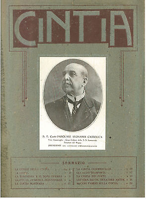 CINTIA PASQUALE LEONARDI CATTOLICA 1921 INDUSTRIA DOPOGUERRA I° GUERRA MONDIALE