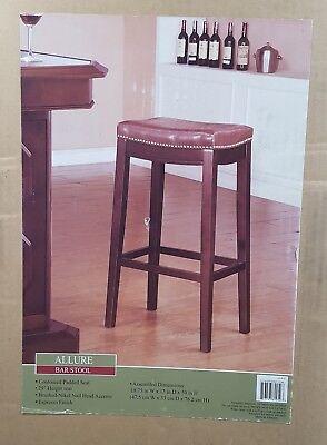 30h Bar Stool (Allure bar stool 30''H 18.75''W 13''D - Brown   )