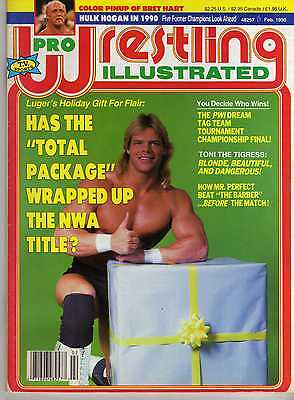 Pro Wrestling Illustrated February 1990 Hulk Hogan Bret Hart Curt Hennig Wwe Wwf