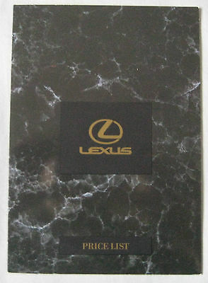 1994 Lexus Price List Pub.No. 00000-00050-BR