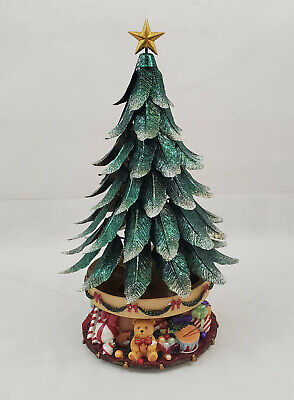 Partylite Glowing Tree Christmas Tree Tealight Candle Holder Music Box ( no key) Christmas Tree Tealight Candle Holder