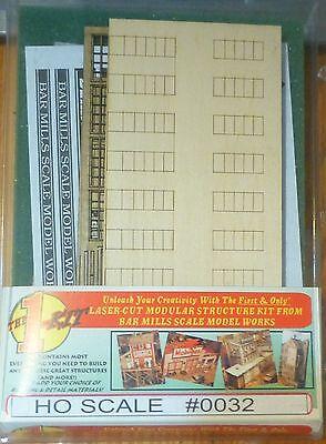 Bar Mills #32 (HO Scale) Modular Structure - Kit (Laser-cut) -- The (Modular Structure Kit)