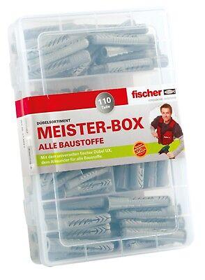 Fischer Dübel Meister-Box Dübelsortiment 110 tlg. UX / UXR  Universaldübel Neu