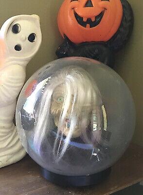 Vtg Gemmy Spirit Ball Witch * Works Animated Lights Sound * Halloween * 3 AA bat