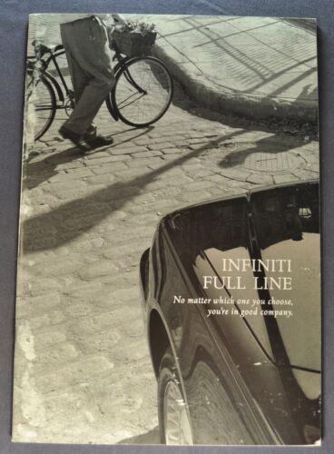1997 Infiniti Catalog Sales Brochure Q45 J30 I30 QX4 Nice Original 97