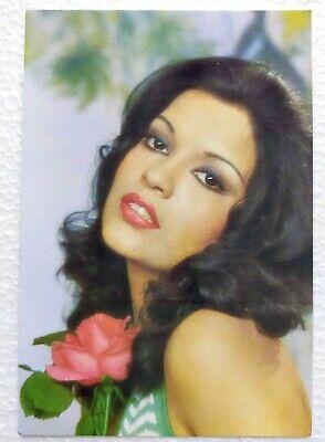 Bollywood Actor Actress Zeenat Aman Post card Original Postcard India Star #171