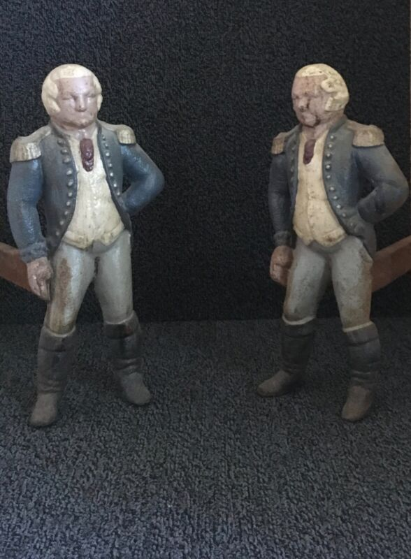 Vintage George Washington Andirons - Made by Virginia Metalcrafters