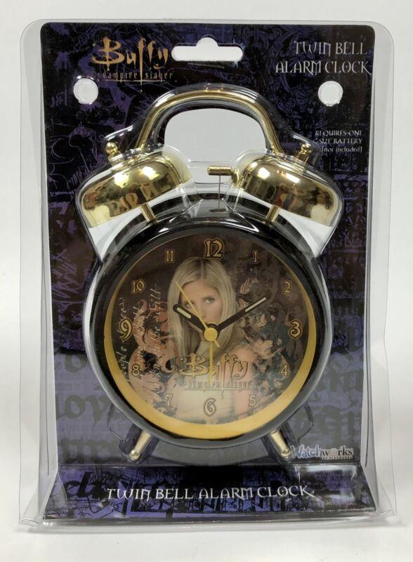 Rare Buffy The Vampire Slayer Twin Bell Alarm Clock 2002 Playworks Unopened
