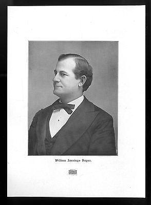 William Jennings Bryan, Der US-amerikanische Politiker Histor. Kunstdruck v.1906