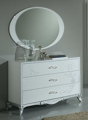 Clásico Espejo Lujo Consola Dormitorio Estilo Moderno Oval Cristal Spieglein