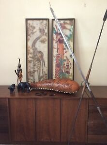 Vintage African Spears and Art