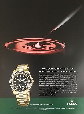 Rolex Oyster Perpetual GMT Master II Watch Full Page Color Ad