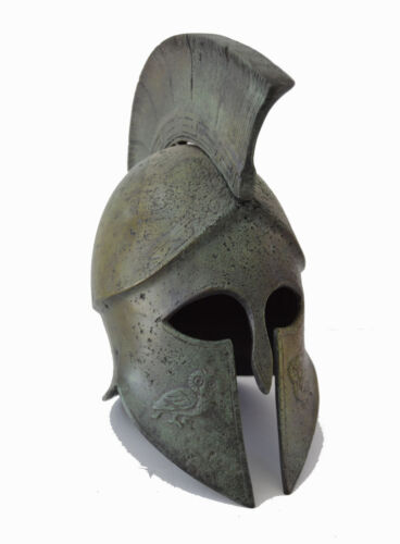 Helmet Ancient Greek Bronze small freestanding Helmet artifact
