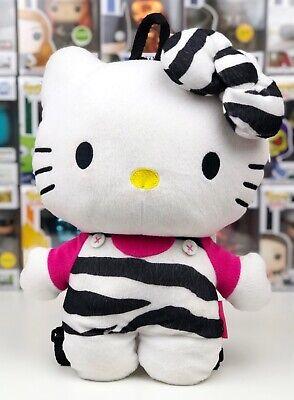 Sanrio HELLO KITTY PLUSH BACKPACK Zebra Print Stuffed Toy Bag Collectible 2012