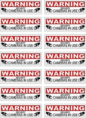 4 CCTV VIDEO SURVEILLANCE Security Burglar Alarm Decal  Warning Sticker Signs