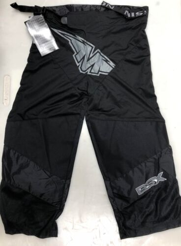 New Mission BSX Inline Hockey Pant Junior Large roller derby boys youth Black