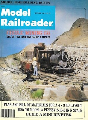 Model Railroader Oc 1979 Narrow Gauge Mining 4x8 HO Layout Pennsy 2-10-2 N Scale for sale  Show Low