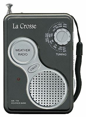 809-905 La Crosse AM/FM All 7 NOAA Weather Band Channels Handheld Weather Radio