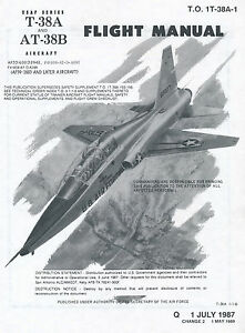 NORTHROP-T-38A-amp-AT-38B-TALON-FM-T-O-1T-38A-1-ABBREVIATED-CHECKLIST