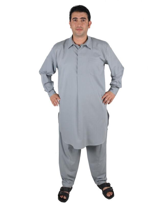 Two-Piece Salwar Kameez Trousers Tunic IN Pakistani Style IN Grey - KAM00664