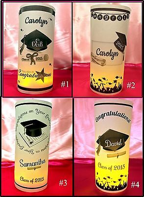 Personalized Graduation Luminaries Table Centerpieces Decorations Party Reunion Graduation Party Decor