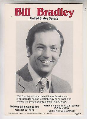 3 1970s POLITICAL CAMPAIGN ITEMS - BILL BRADLEY HUBERT HUMPHREY GEORGE McGOVERN