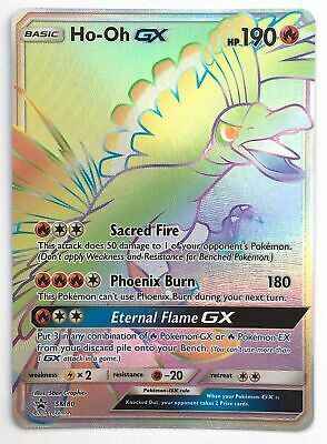 Ho-oh GX SM80 Rainbow Rare Pokemon Promo Card (Shining Legends Promo)