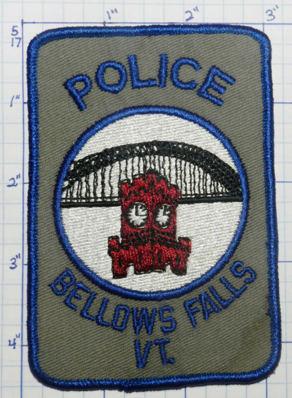 VERMONT, BELLOWS FALLS POLICE DEPT THREAD BACK PATCH